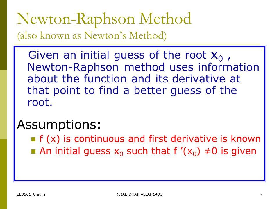 Newton-Raphson Method (also known as Newton's Method)
