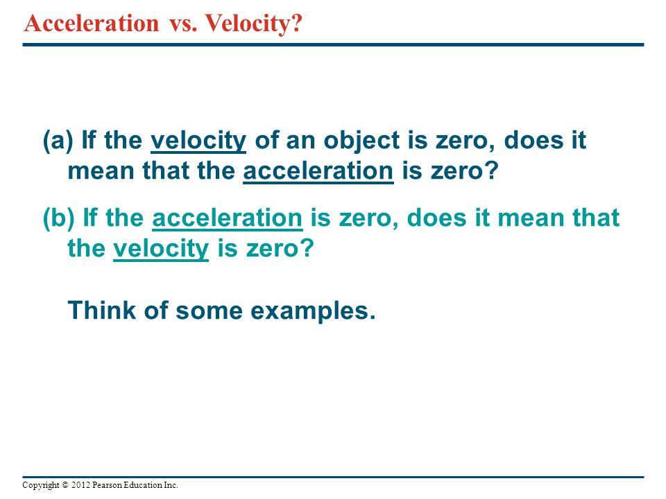 Acceleration vs. Velocity