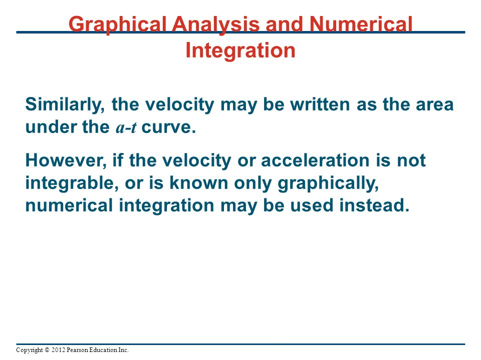 Graphical Analysis and Numerical Integration