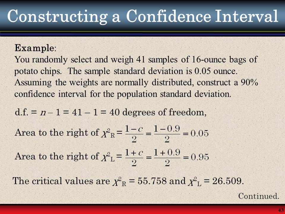 Constructing a Confidence Interval