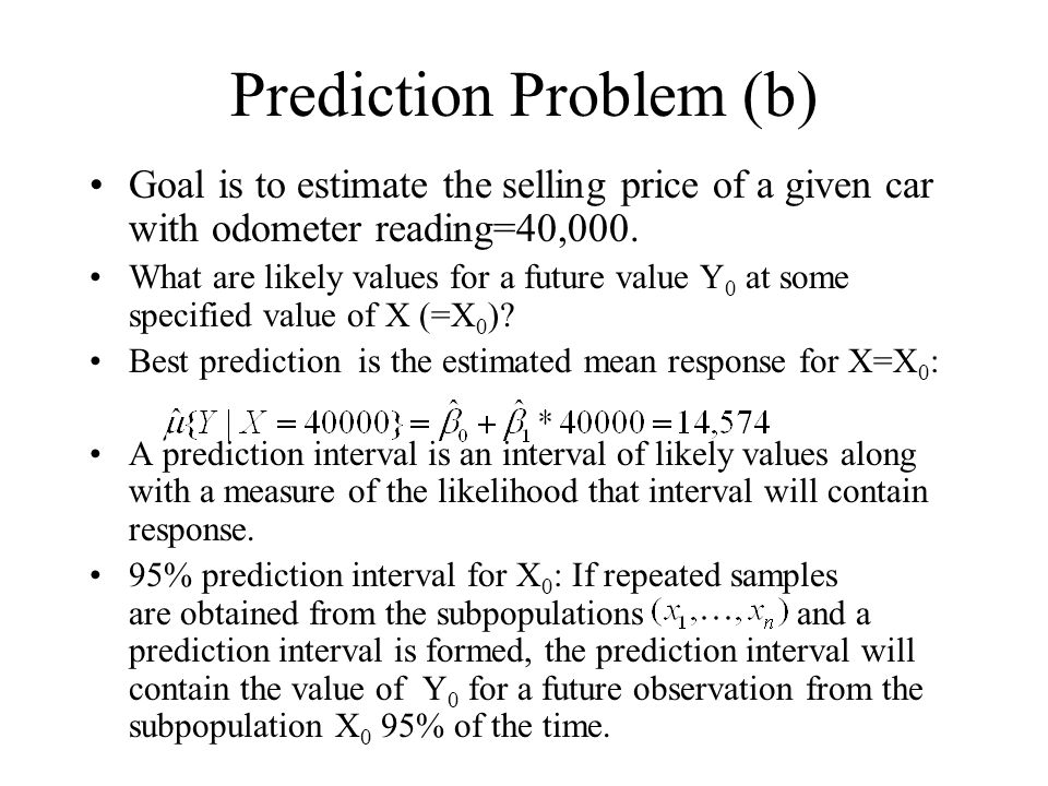 Prediction Problem (b)