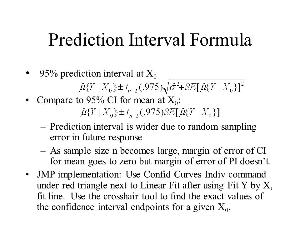 Prediction Interval Formula