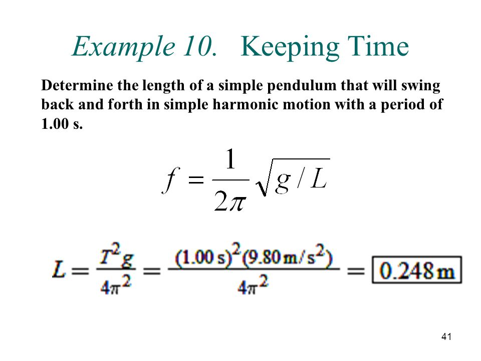 Example 10. Keeping Time
