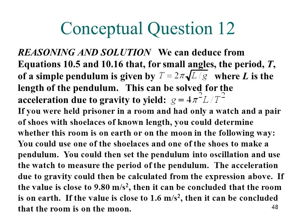 Conceptual Question 12