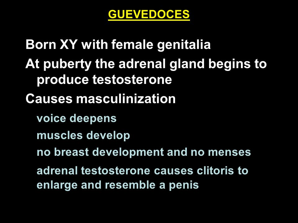 Born XY with female genitalia