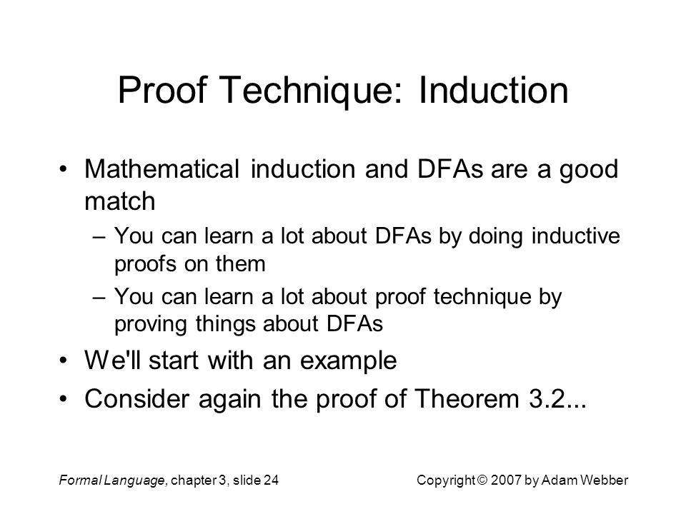 Proof Technique: Induction