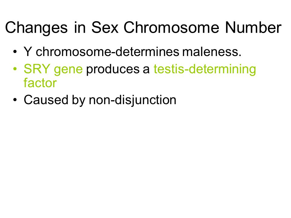 Changes in Sex Chromosome Number