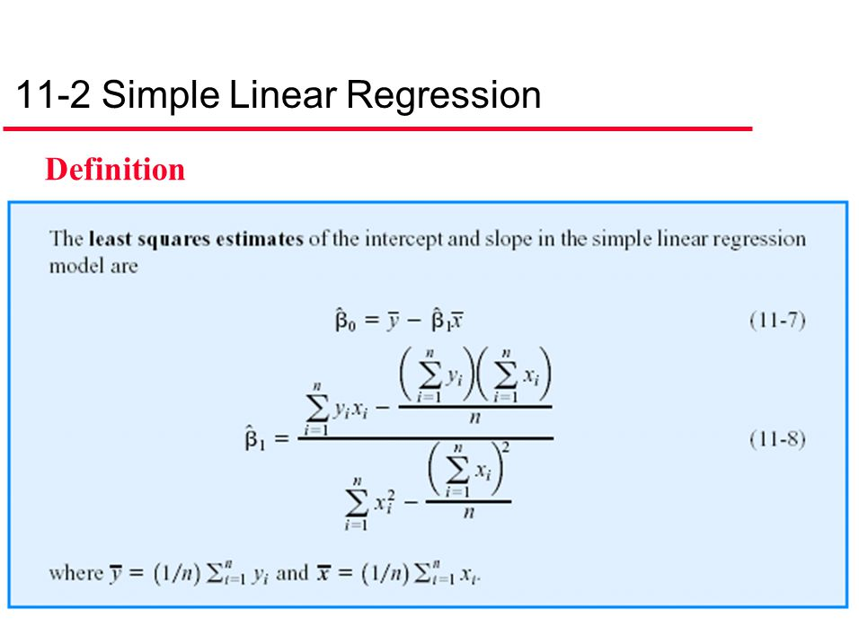 11-2 Simple Linear Regression