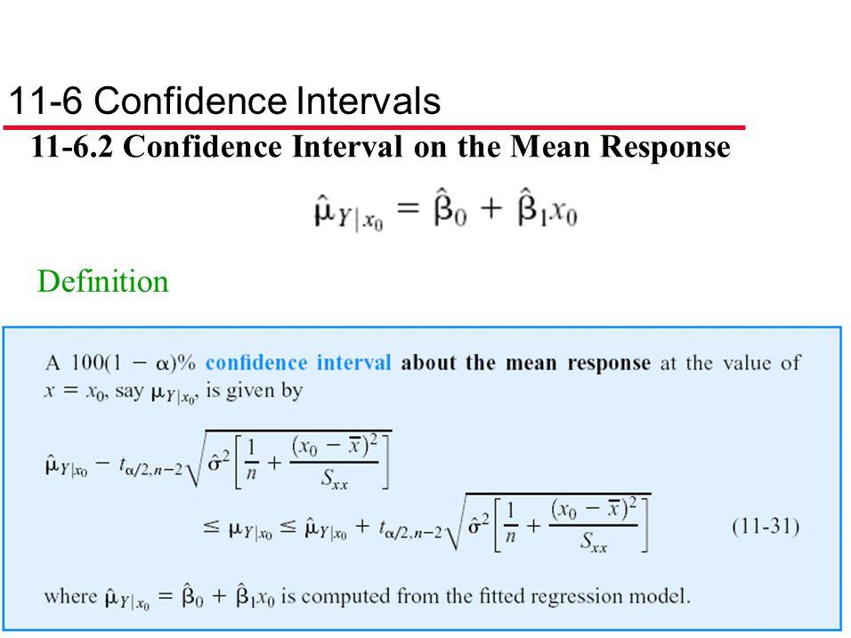 11-6 Confidence Intervals