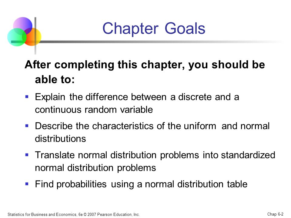 Chapter Goals After completing this chapter, you should be able to: