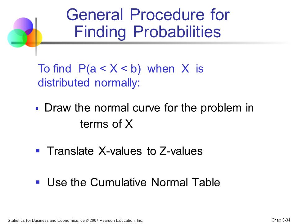 General Procedure for Finding Probabilities