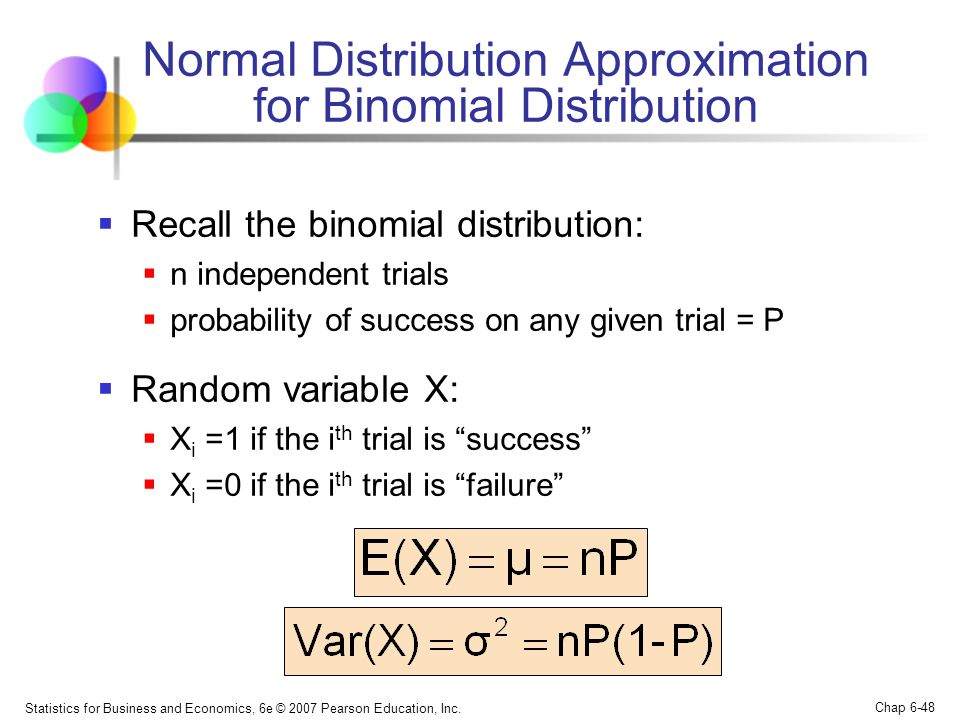 Normal Distribution Approximation for Binomial Distribution