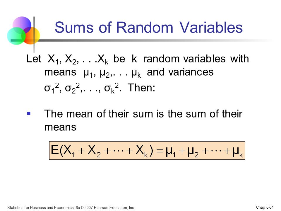 Sums of Random Variables
