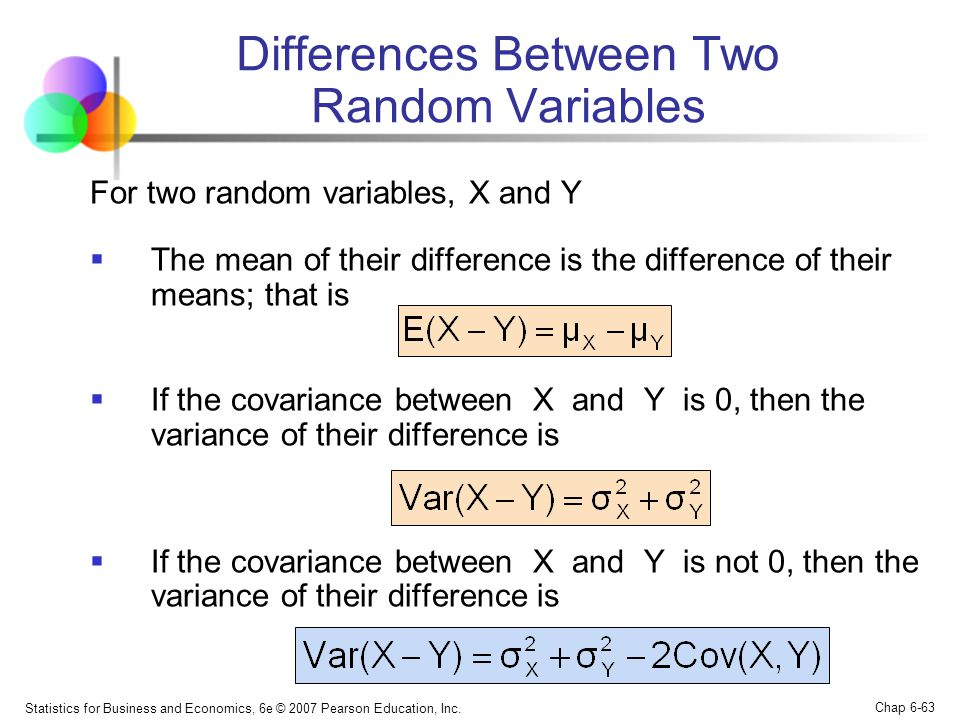 Differences Between Two Random Variables