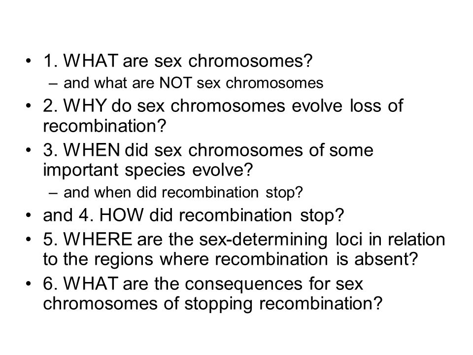 1. WHAT are sex chromosomes