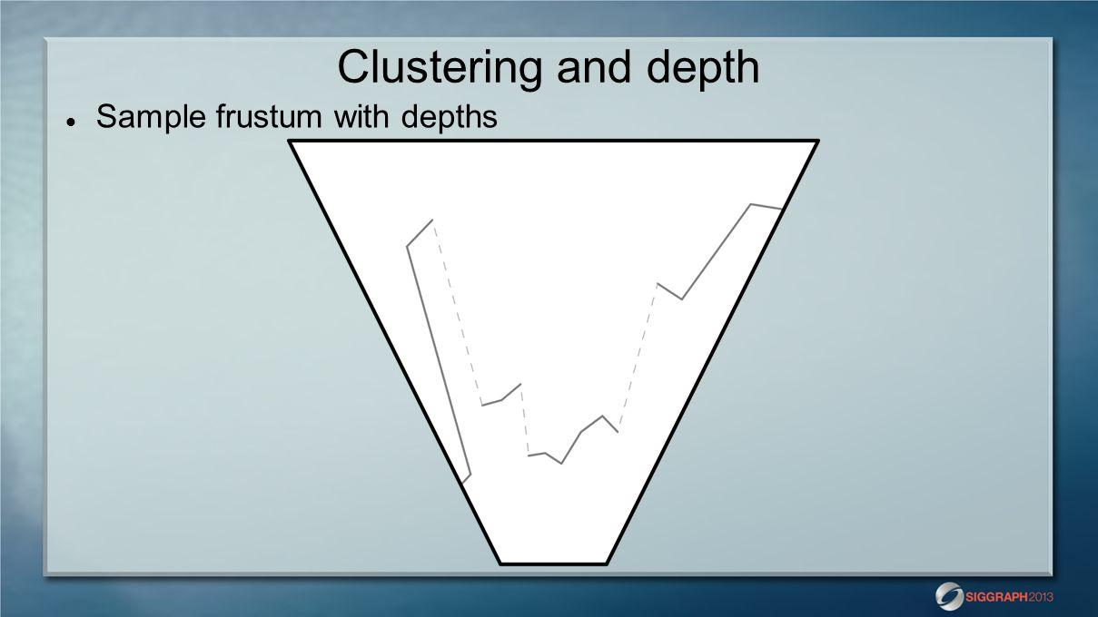Clustering and depth Sample frustum with depths