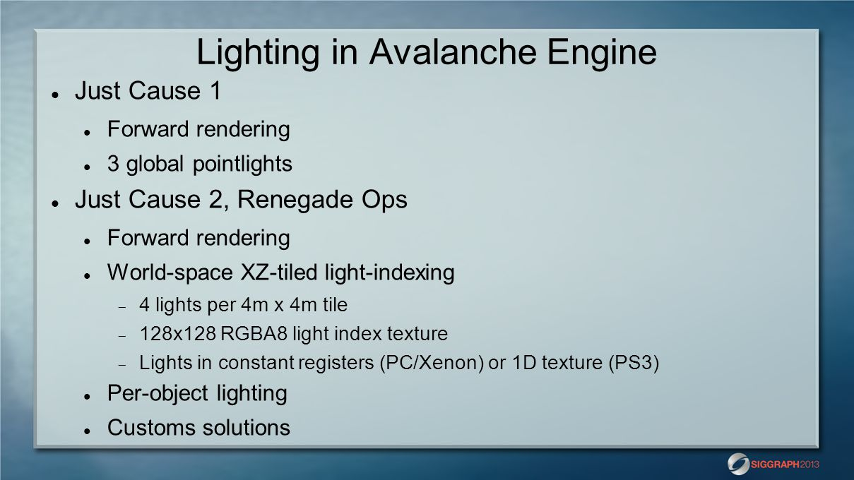 Lighting in Avalanche Engine