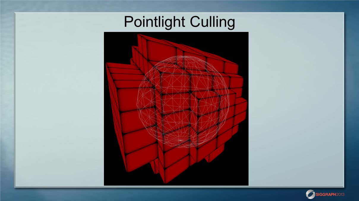 Pointlight Culling Here's the result visualized in 3D.