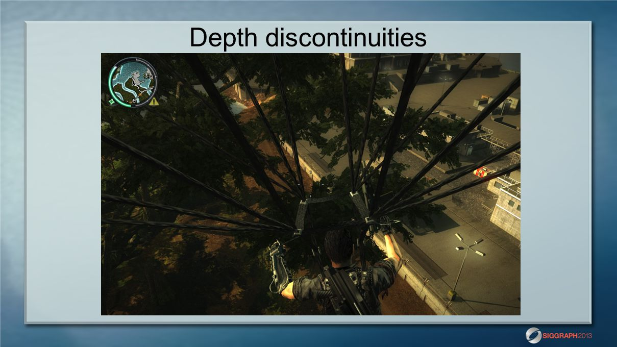 Depth discontinuities