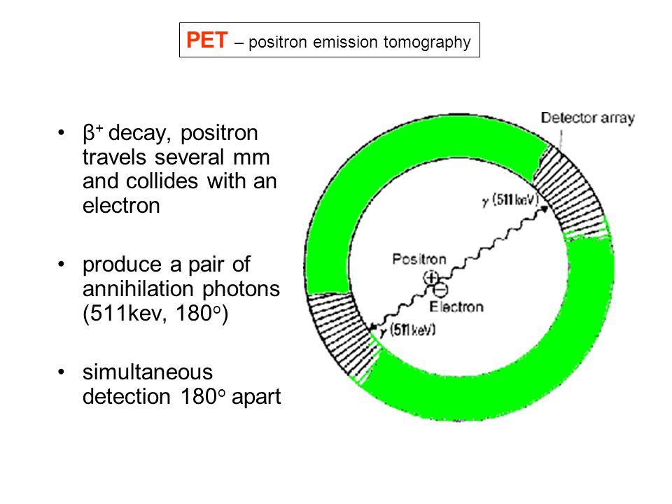 PET – positron emission tomography