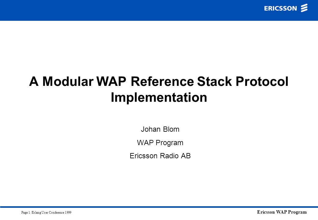 A Modular WAP Reference Stack Protocol Implementation