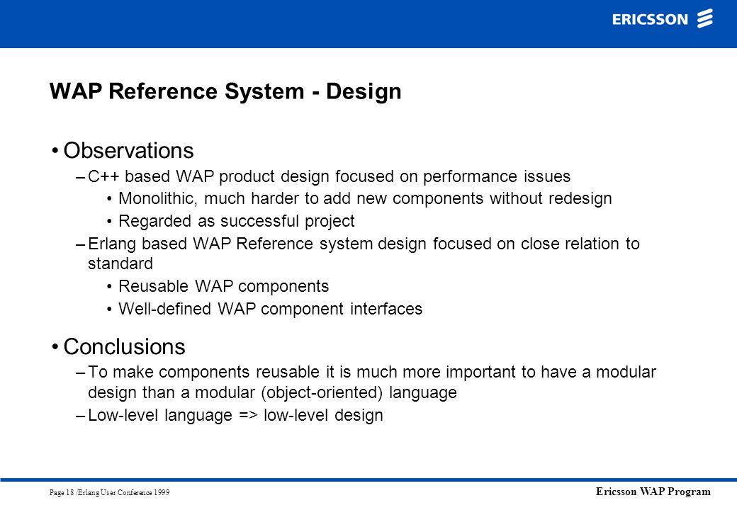 WAP Reference System - Design