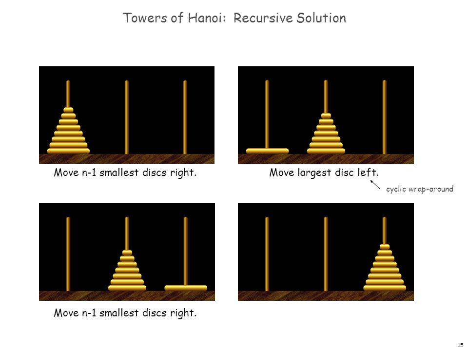 Towers of Hanoi: Recursive Solution