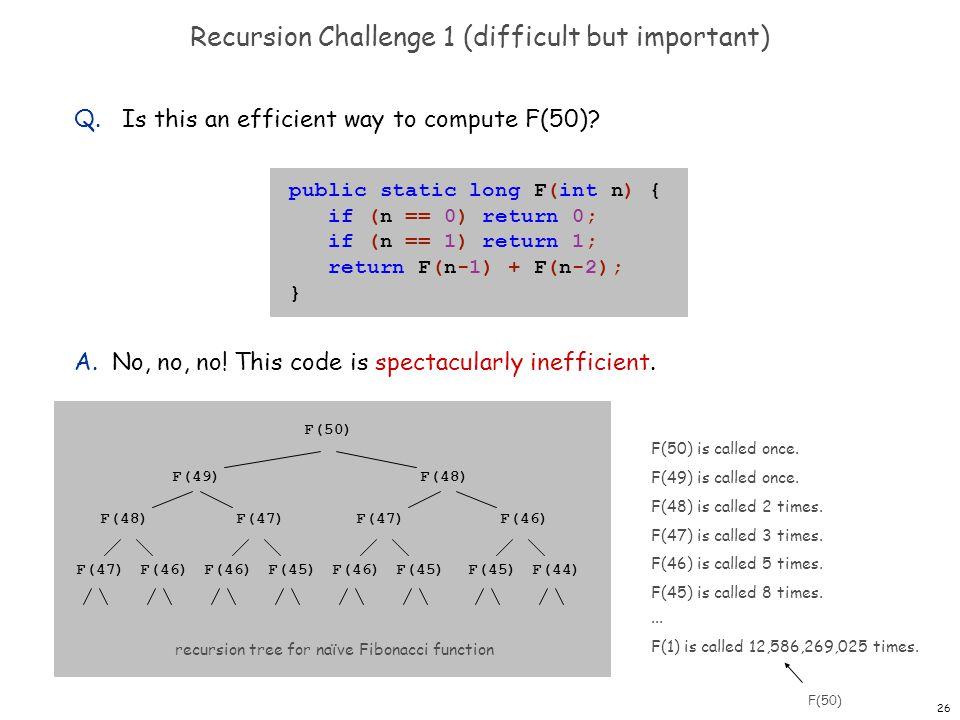 Recursion Challenge 1 (difficult but important)