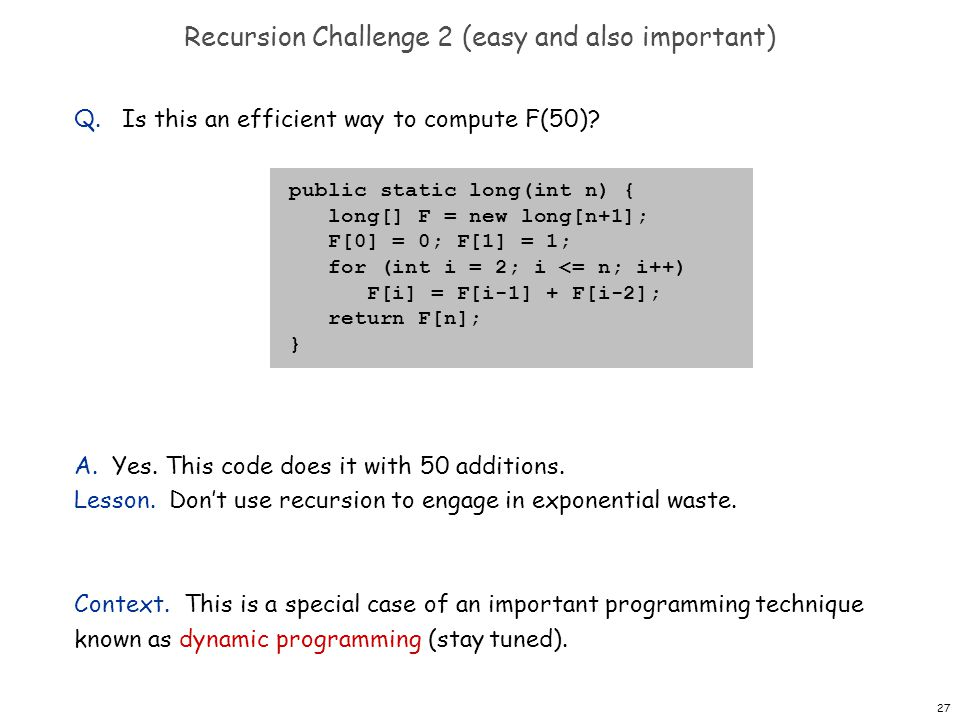 Recursion Challenge 2 (easy and also important)