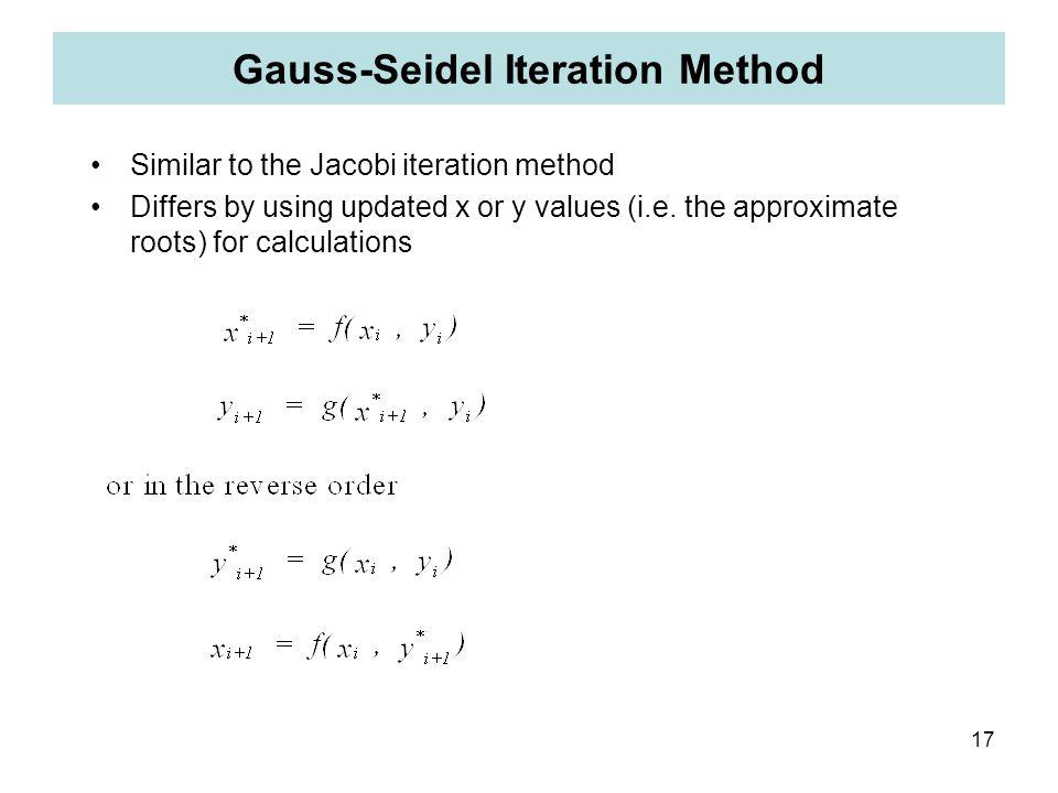 Gauss-Seidel Iteration Method