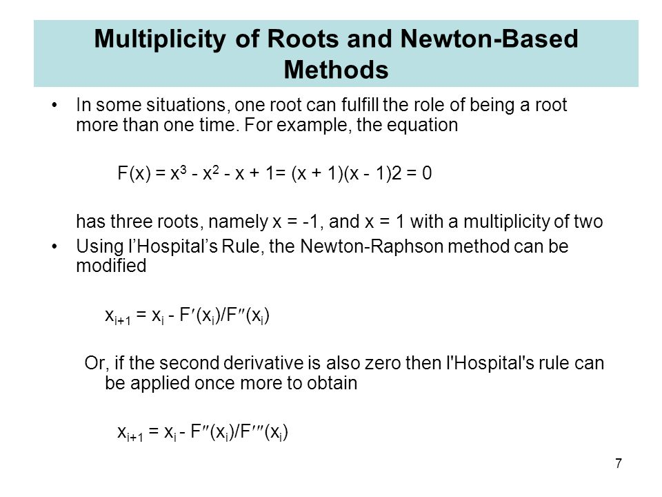 Multiplicity of Roots and Newton-Based Methods