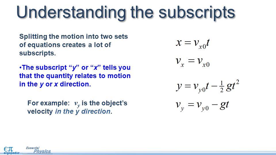 Understanding the subscripts