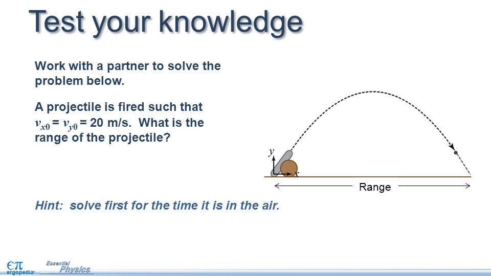 Test your knowledge Work with a partner to solve the problem below.