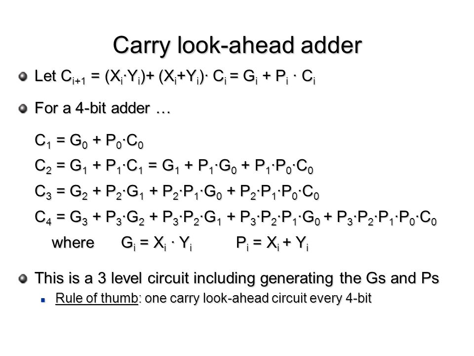 Carry look-ahead adder