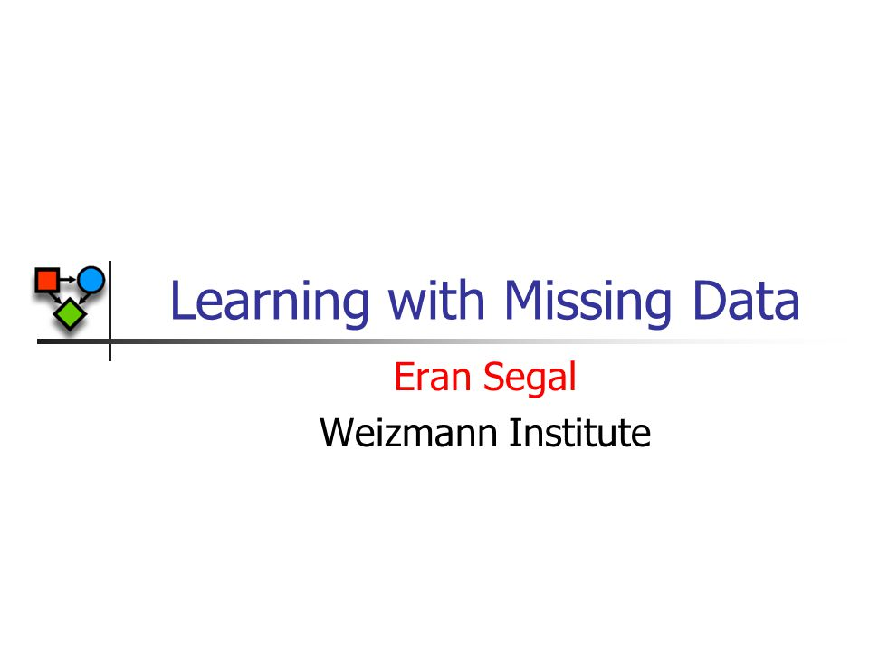 Learning with Missing Data