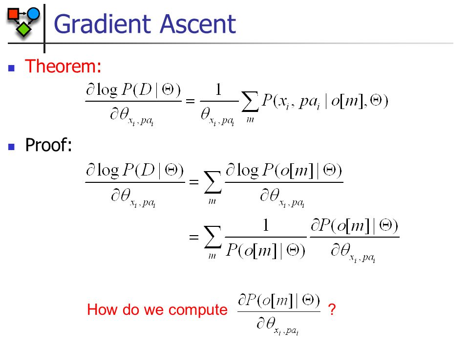 Gradient Ascent Theorem: Proof: How do we compute