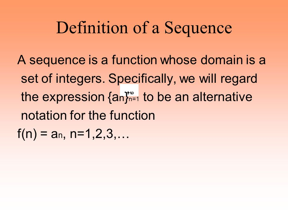 Definition of a Sequence