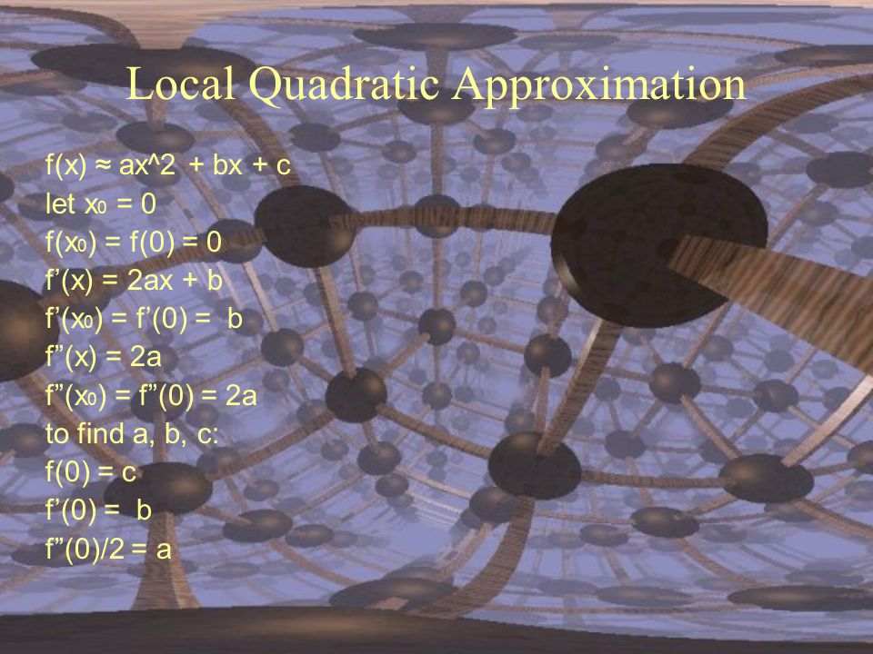 Local Quadratic Approximation