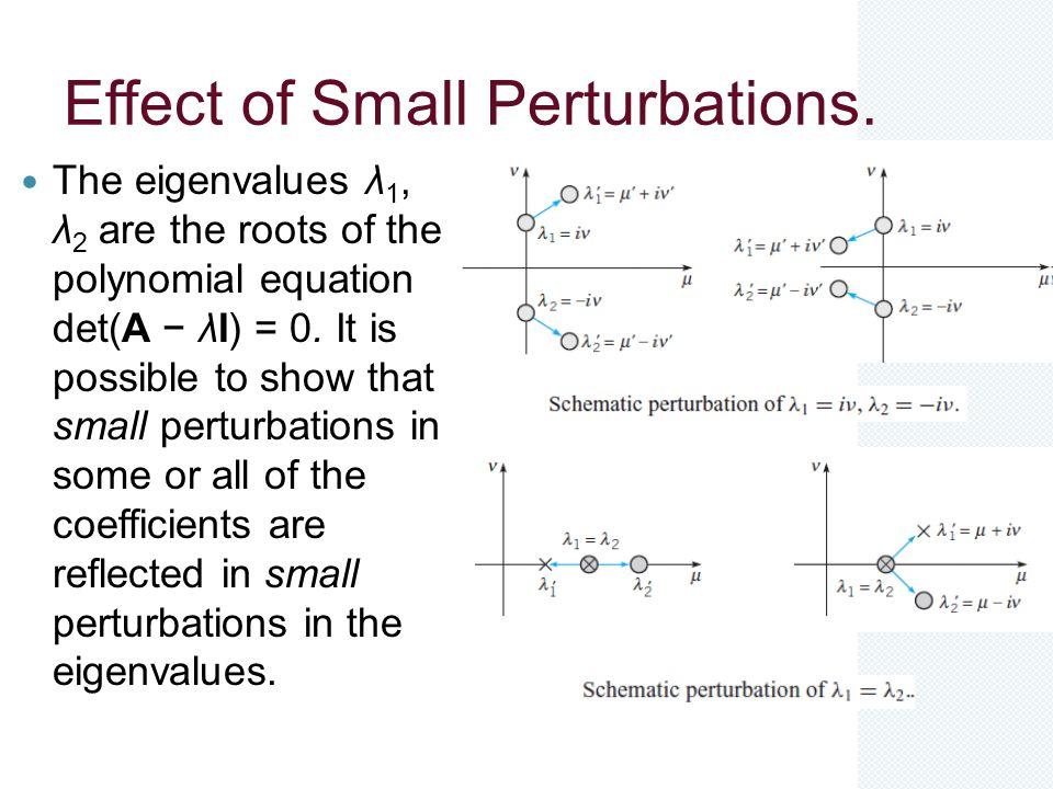 Effect of Small Perturbations.