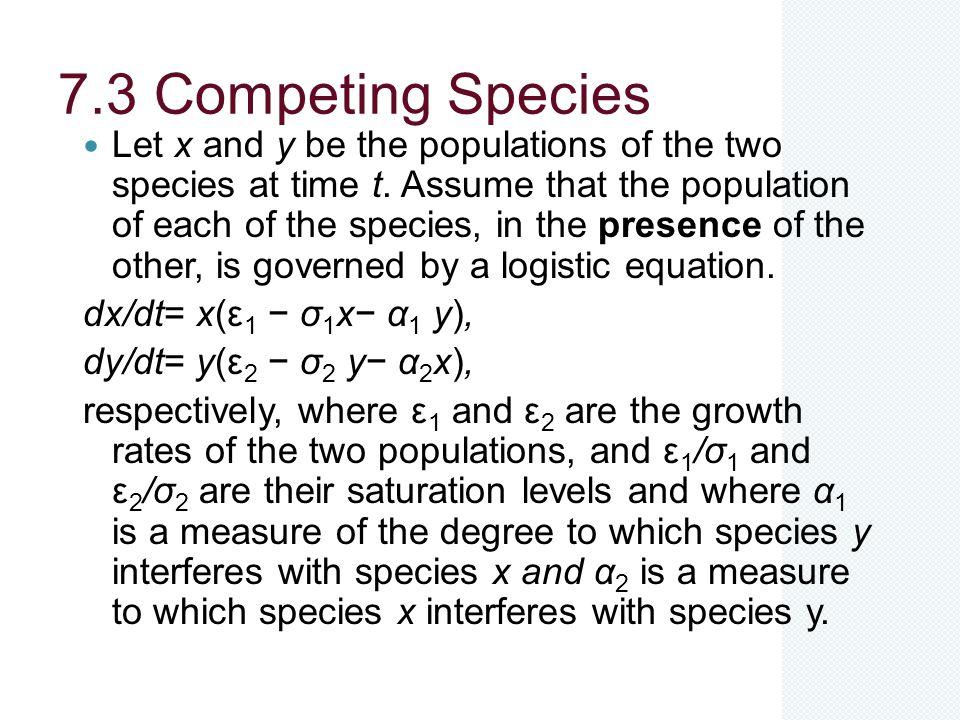 7.3 Competing Species