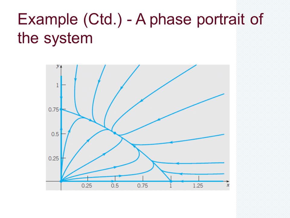 Example (Ctd.) - A phase portrait of the system