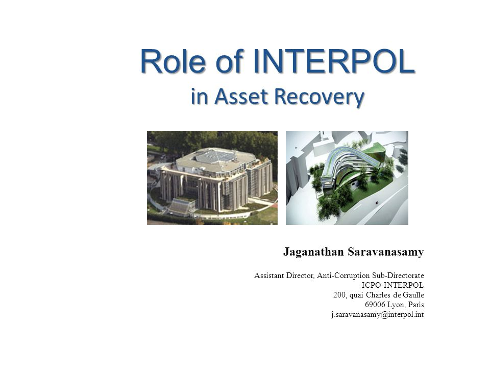 Role of INTERPOL in Asset Recovery