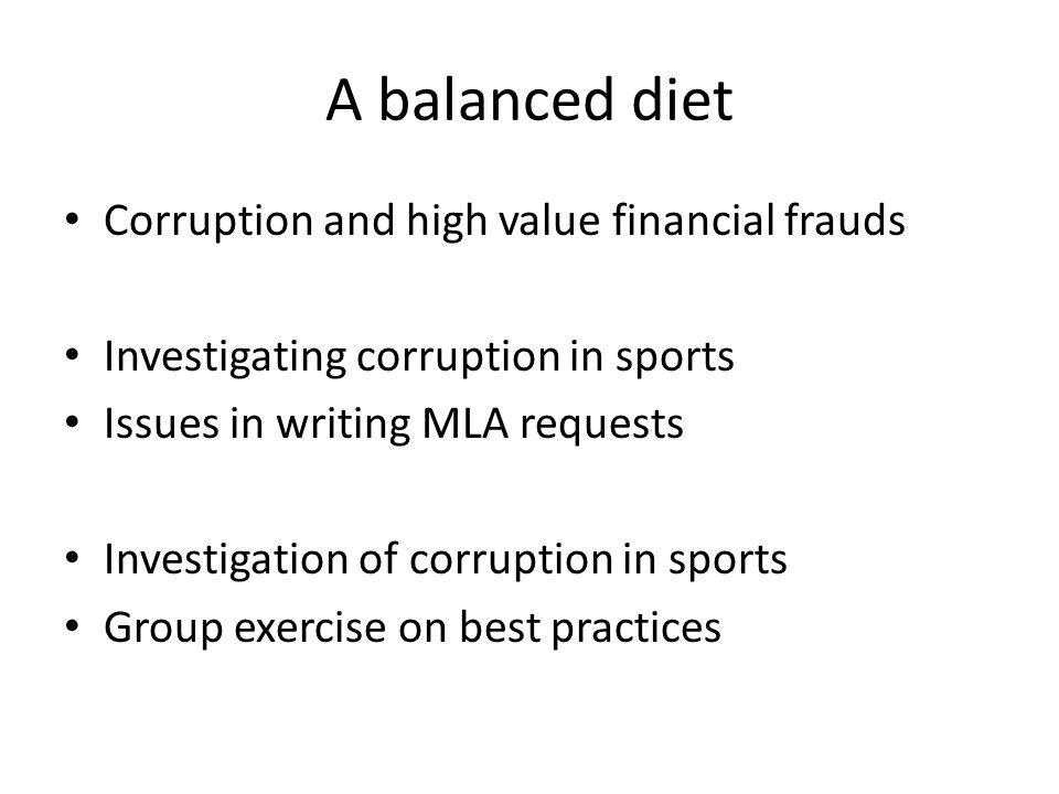 A balanced diet Corruption and high value financial frauds