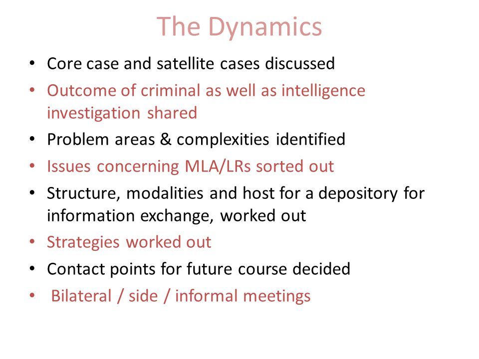 The Dynamics Core case and satellite cases discussed