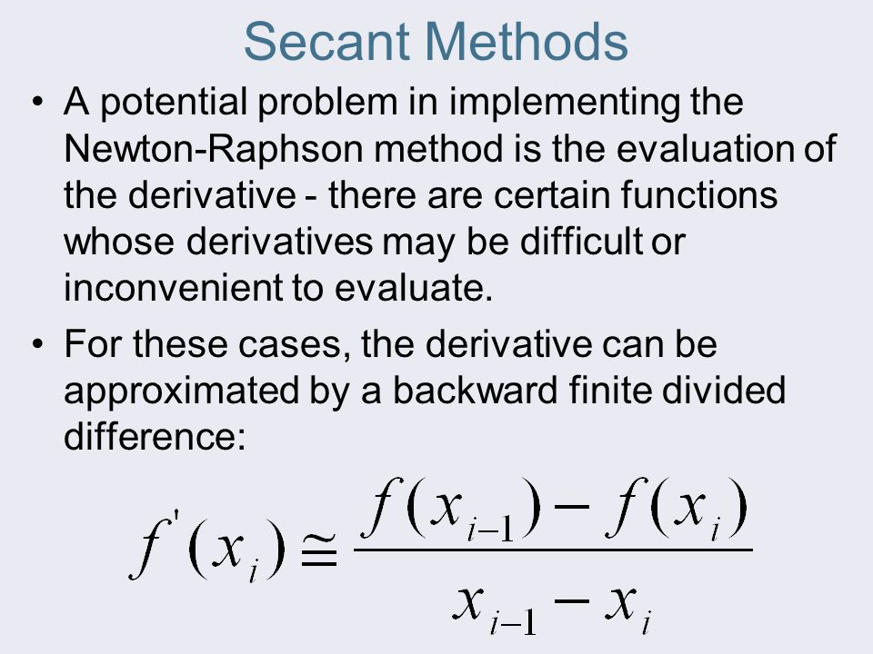 Secant Methods
