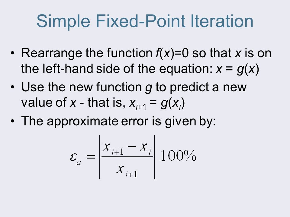 Simple Fixed-Point Iteration