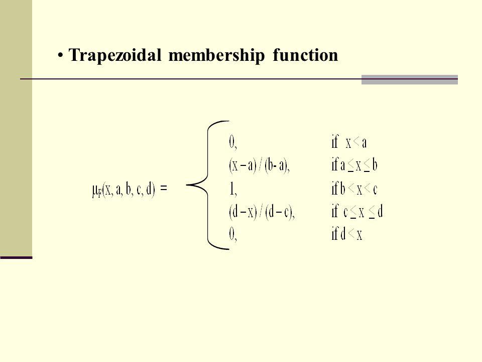 Trapezoidal membership function