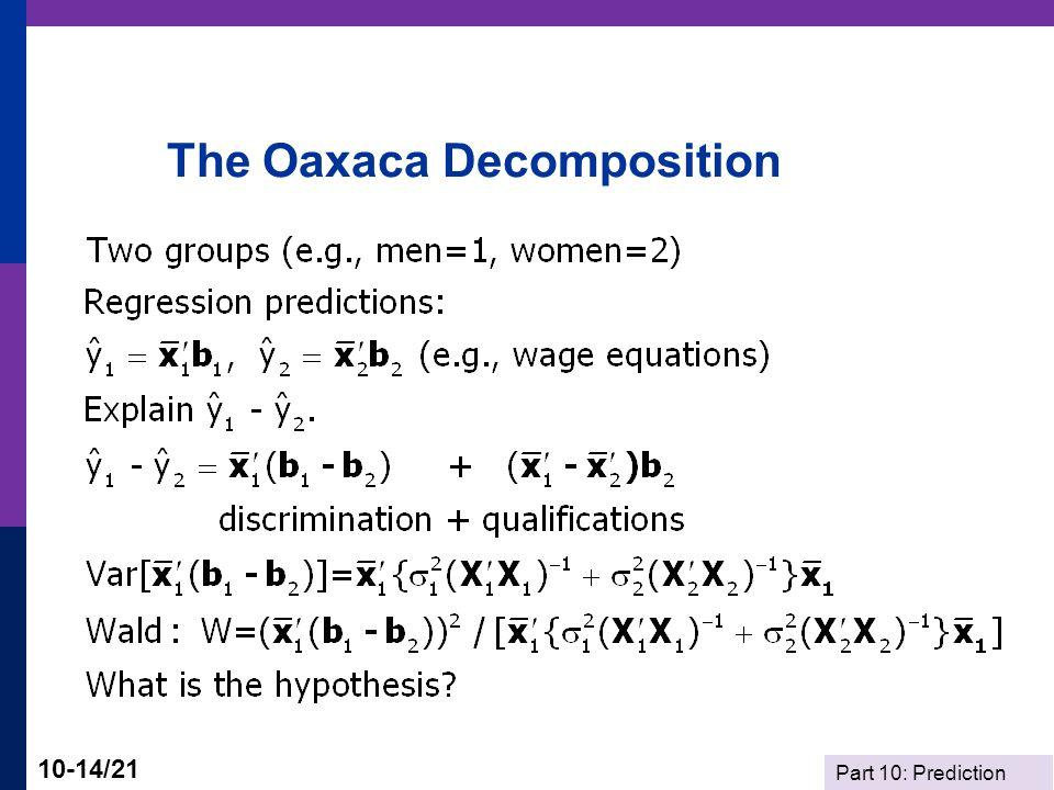 The Oaxaca Decomposition