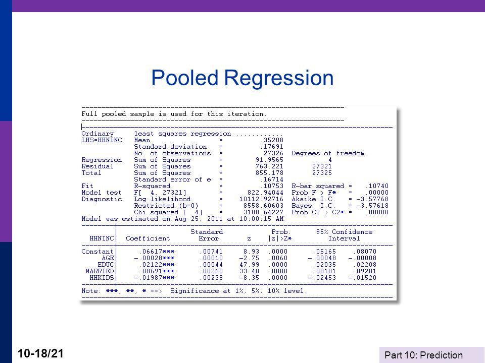 Pooled Regression