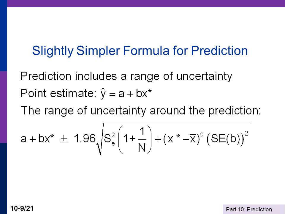Slightly Simpler Formula for Prediction